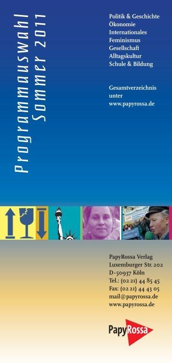 Programmauswahl Sommer 2011