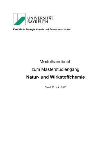 Modulhandbuch - Biologie, Chemie und Geowissenschaften