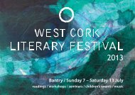 Bantry / Sunday 7 – Saturday 13 July - West Cork Music