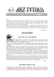 gazetka 1(45)-2009 - Strona Gimnazjum nr 9 w Koszalinie