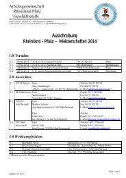 Ausschreibung - ARGE Ringen Rheinland-Pfalz