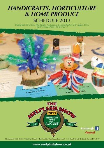 handicrafts, horticulture & home produce - Melplash Show