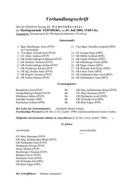 Ternberg - RiS-Kommunal - STARTSEITE