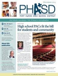 December 2013 - Port Huron Area Schools