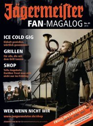 FAN-MAGALOG - Jägermeister Shop