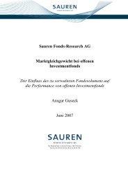 Sauren Fonds-Research AG Marktgleichgewicht bei offenen ...