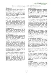 Allgemeine Geschäftsbedingungen - facts4emotion