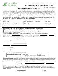 Salary Reduction Agreement - 403(b) - SpokesKids