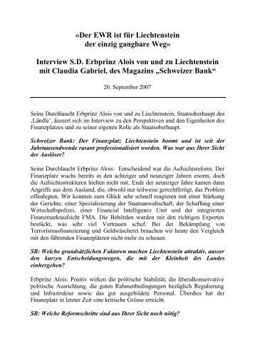 2007 08 16 - Schweizer Bank _SDE_ - Das Fürstenhaus von ...