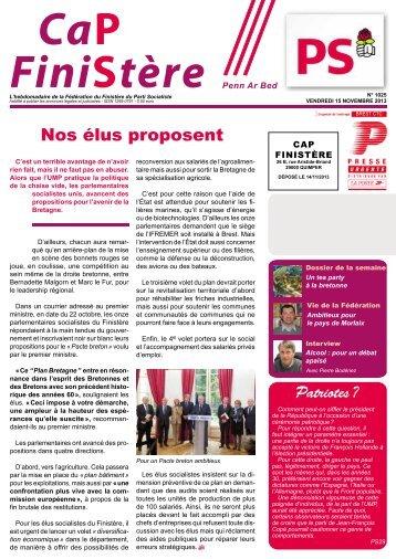 Cap Finistère n°1025 du 15 novembre 2013 - Fédération du ...