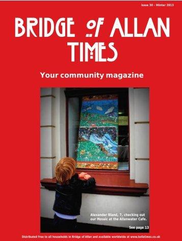 Winter 2013 - Bridge of Allan Times