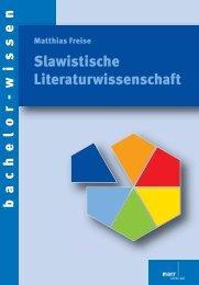 Slawistische Literaturwissenschaft - im Shop von Narr Francke ...