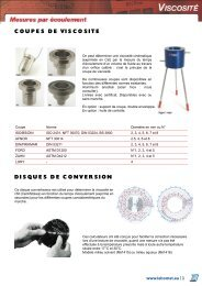 COUPES DE VISCOSITE DISQUES DE CONVERSION - Labomat