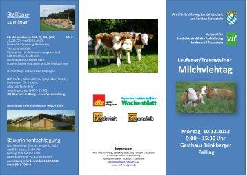 Laufener/Traunsteiner Milchviehtag Montag, 10.12.2012 9:00 – 15 ...