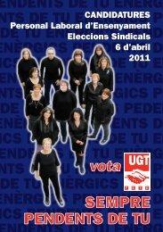 SEMPRE PENDENTS DE TU vota - FETE-UGT de Catalunya