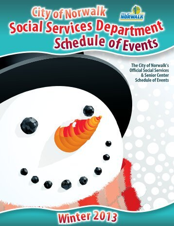 2013 Winter Social Services Schedule - City of Norwalk