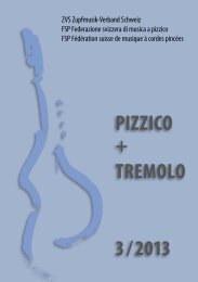 PIZZICO + TREMOLO 3 / 2013 - Zupfmusik-Verband Schweiz