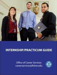 INTERNSHIP/PRACTICUM GUIDE - Fisher College