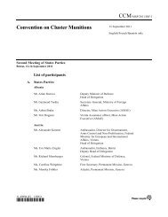 Official list of participants - Cluster Munition Coalition