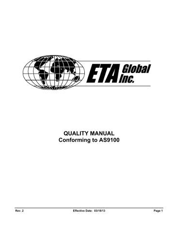 Far West Technology, Inc. ISO 9001 Quality Manual