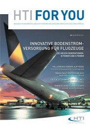"Magazin ""HTI FOR YOU"" – Ausgabe 4 - HTI - High Tech Industries AG"