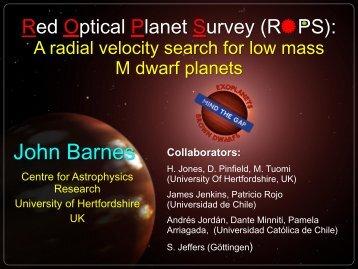 John Barnes - Centre for Astrophysics Research (CAR) - University ...