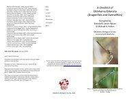 A Checklist of Oklahoma Odonata - Oklahoma Biological Survey ...