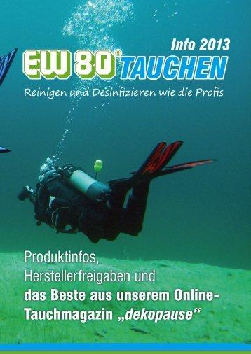 Info 2013 Produktinfos, Herstellerfreigaben und ... - EW80 TAUCHEN