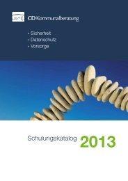 Schulungskatalog 2013 - CD Kommunalberatung