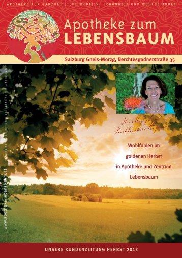 Kundenzeitung Herbst 2013 - Apotheke zum Lebensbaum
