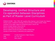 Pirkko Kouri, Developing Unified Structure and Co-operation ... - EOQ