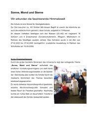 Sonne, Mond und Sterne - Woldenhorn-Schule