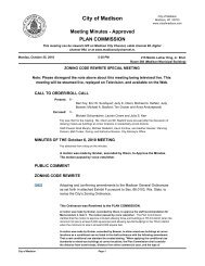 Meeting Minutes - City of Madison, Wisconsin