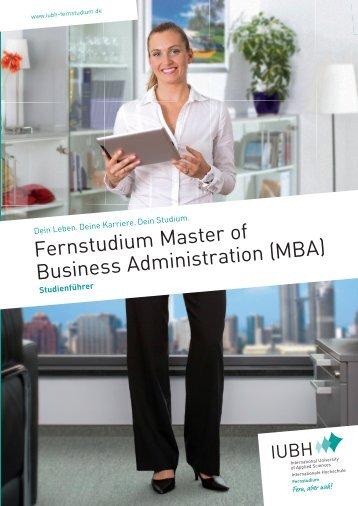 Fernstudium Master of Business Administration (MBA) - IUBH