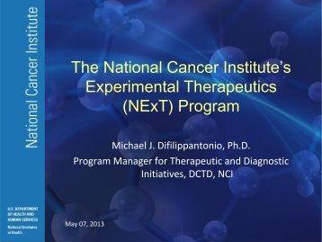 The National Cancer Institute's Experimental Therapeutics (NExT ...