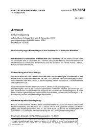 Antwort der Landesregierun vom 02.12.201 - Astrid Birkhahn MdL
