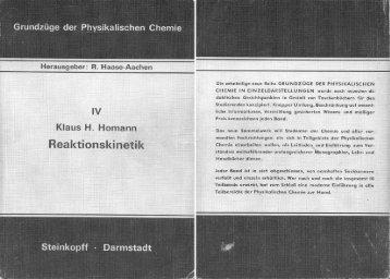 Reaktionskinetik - Physikalisch-Chemisches Institut