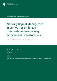 Working Capital Management in der wertorientierten ...