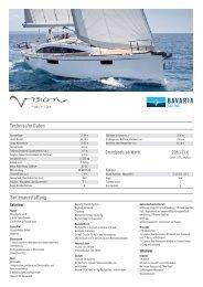 Preisliste Segelyacht Bavaria Vision 46 - Yachthandel