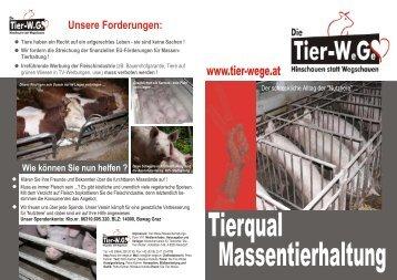 Massentierhaltung-Flyer zum Download - Die Tier-WeGe