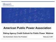 Moody's Public Power Credit Ratings