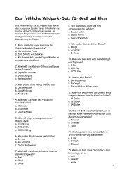 Das fröhliche Wildpark-Quiz für Groß und Klein - Dr. Lothar Gassmann