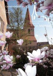 Gemeindebrief April/Mai 2011 - St. Matthäus Vach