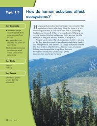 How do human activities affect ecosystems? - McGraw-Hill Ryerson