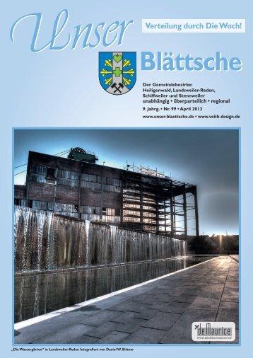 Unser Blättsche · Ausgabe 99 · April 2013 - VDesign Agentur für ...