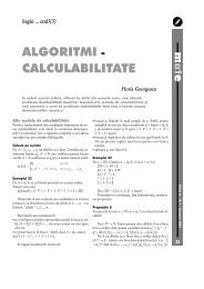 ALGORITMI - CALCULABILITATE - GInfo