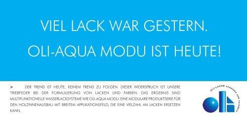 OLI-AQUA MODU Flyer - Oli Lacke GmbH
