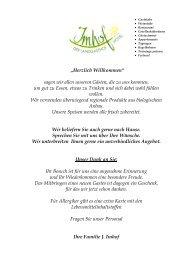 Speisekarte - Landhotel Imhof