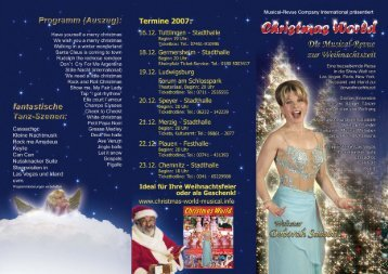 Download Flyer (PDF) - bei Christmas World Musical