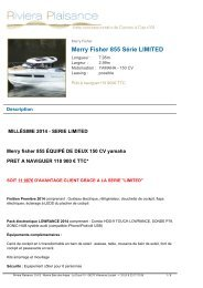 Merry Fisher 855 2013 - Riviera Plaisance